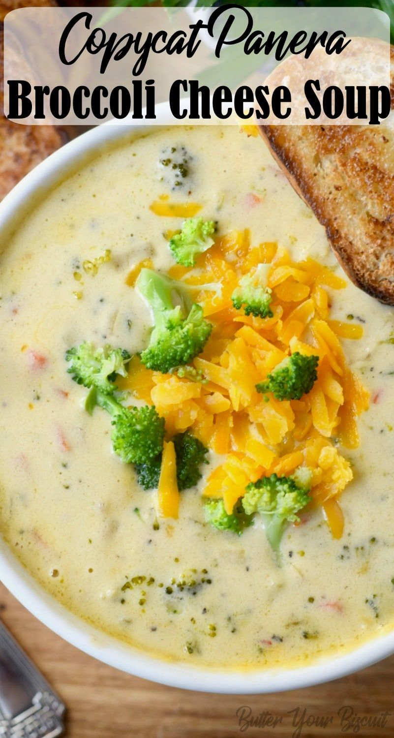 Copycat Panera Broccoli Cheese Soup - Butter Your Biscuit