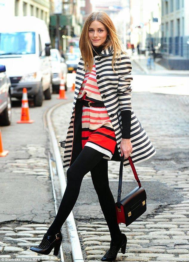 Olivia Palermo in stripes