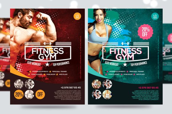Superb Fitness Flyer / Gym Flyer V7 By Satgur Design Studio On Creative Market  Free Fitness Flyer Templates
