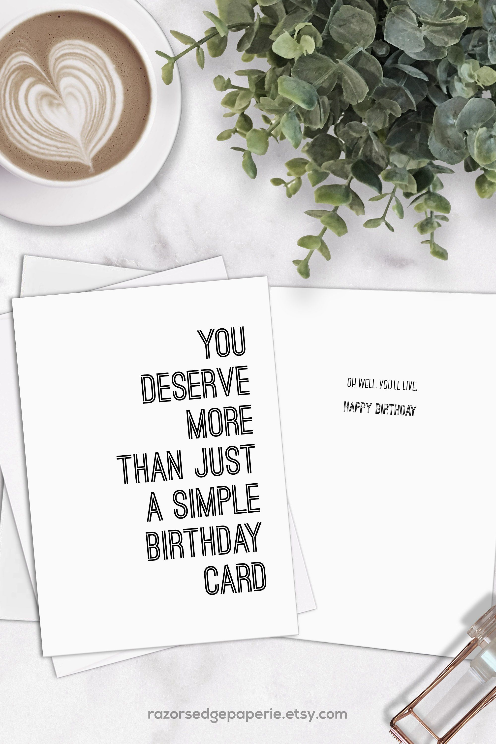 photograph regarding Free Printable Funny Birthday Cards for Him identified as PRINTABLE Amusing Birthday Card for Him Fast Down load