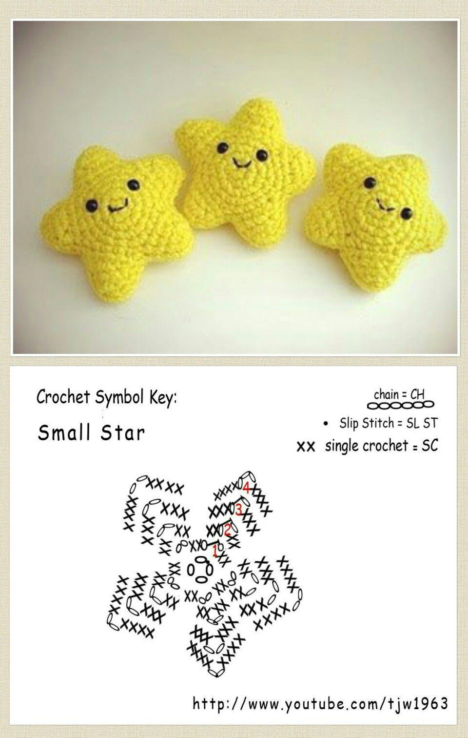 Crochet Star Häkeln Pinterest