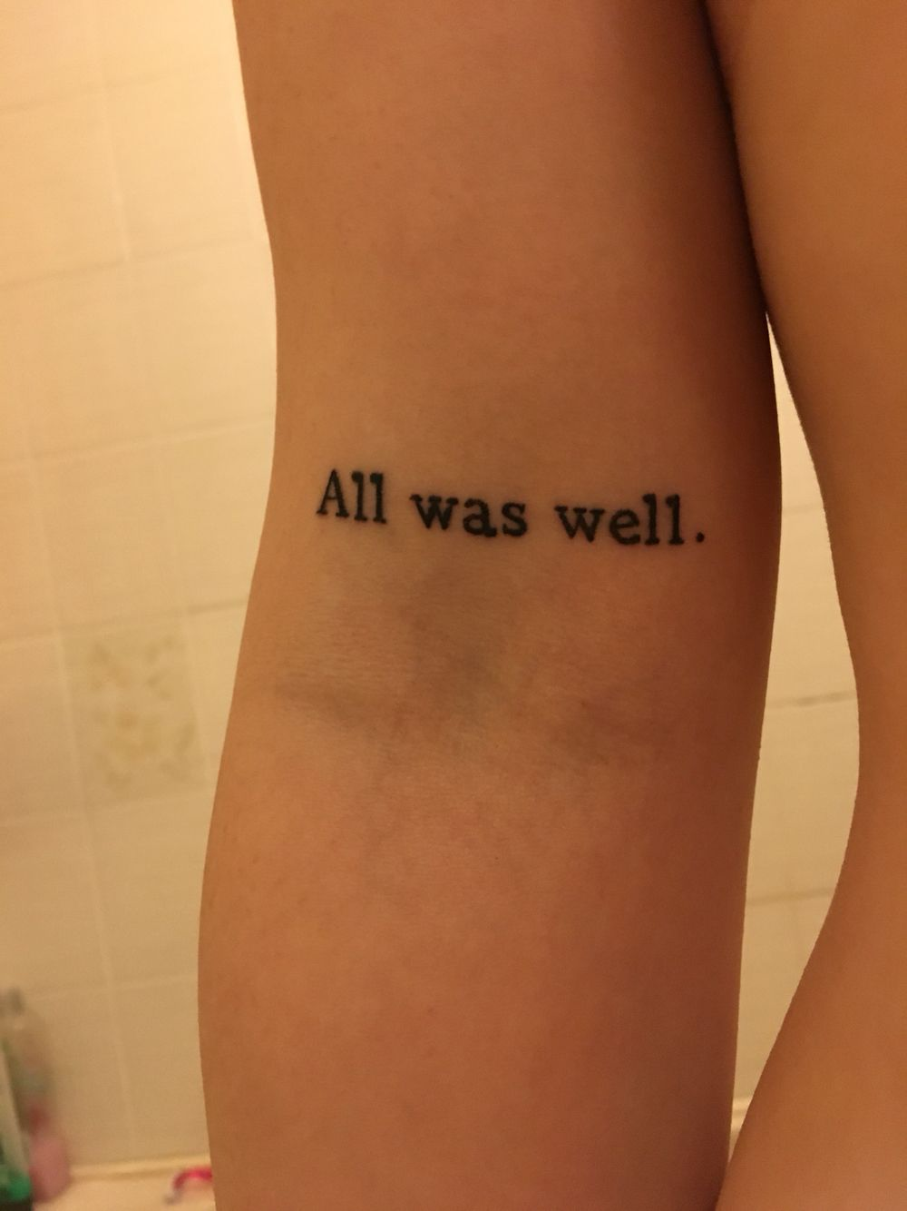 Harry Potter Tattoo All Was Well Done At Asgard In Winchester Harry Potter Tattoo Small All Is Well Tattoos