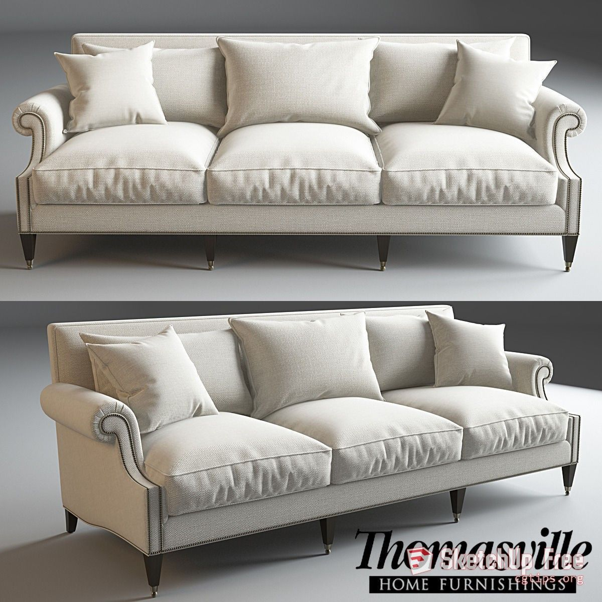 1948 Sofa Sketchup Model Free Download