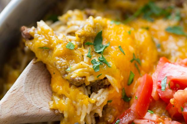 Easy Cheeseburger Skillet has every great taste of a cheeseburger in a one pot meal. Totally fabulous!