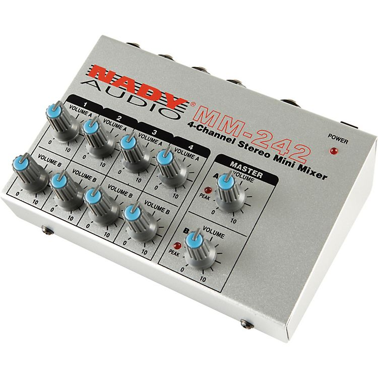 MM-242 4/8-Channel Stereo / Mono Mini Mixer | Nady Systems, Inc.