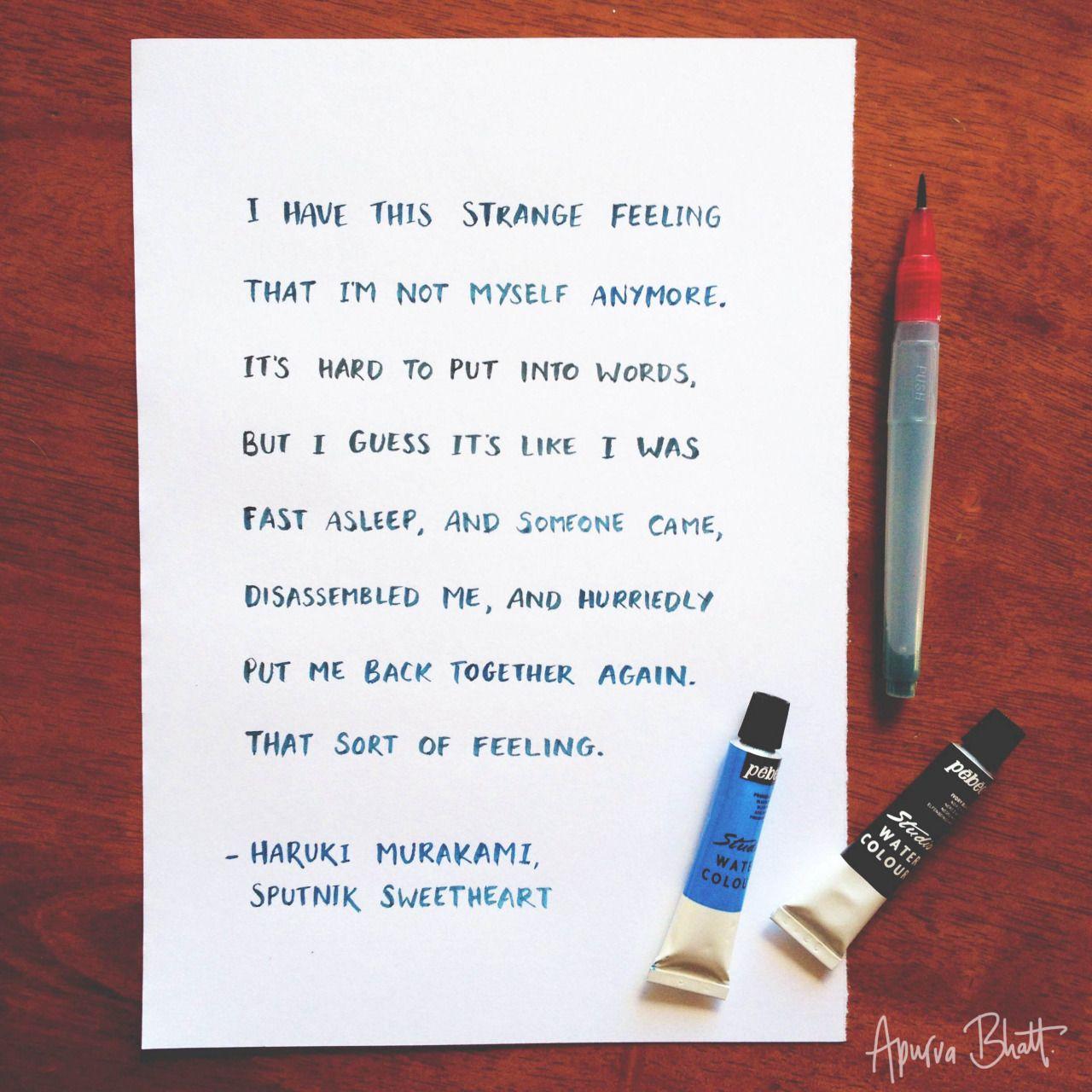 Sputnik Sweetheart Quotes Pesquisa Google Books Pinterest