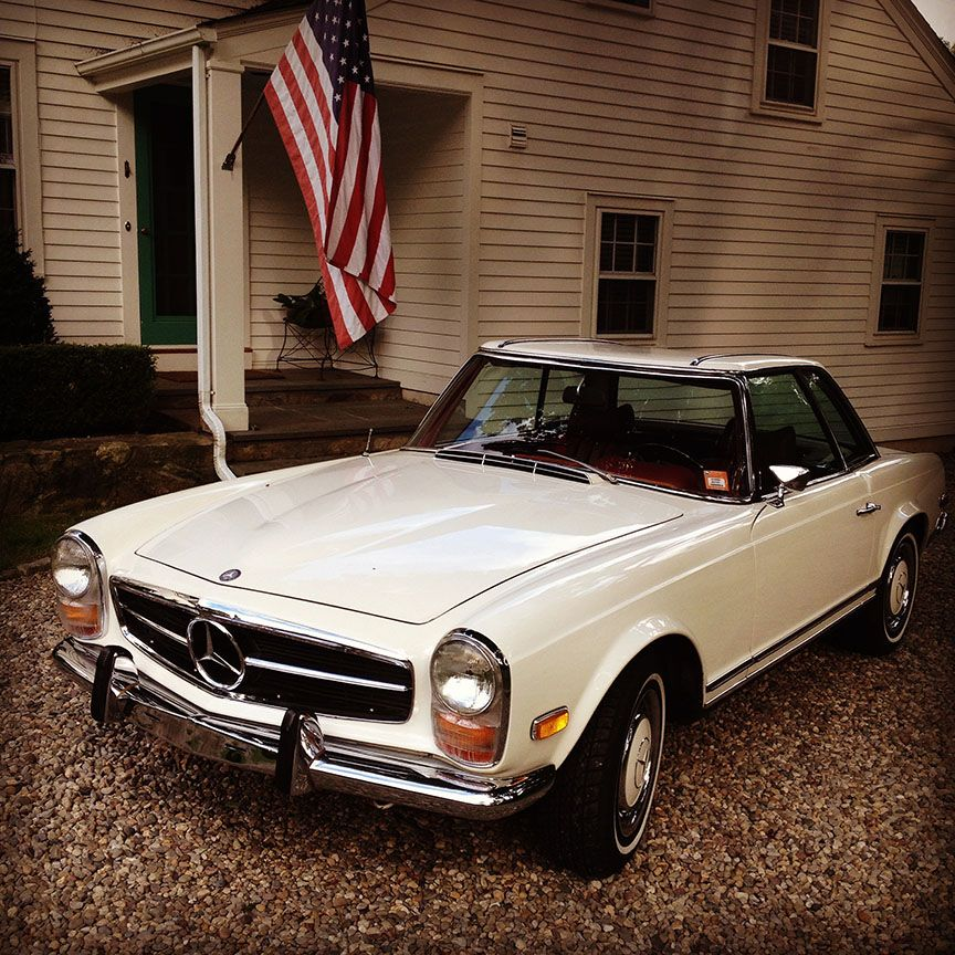 Spring is coming. Time to dust off the old MB 280SL. Belonged to my father a long time ago.