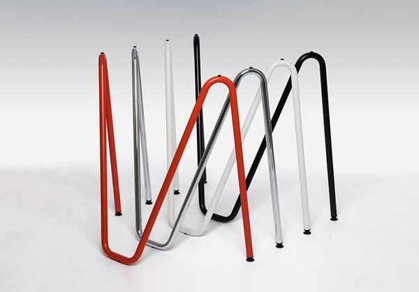 The Sinus Trestle Table Legs Are Made Out Of A Single Piece Tubular Steel Which Is Bent Into Its Ideal Static Shape