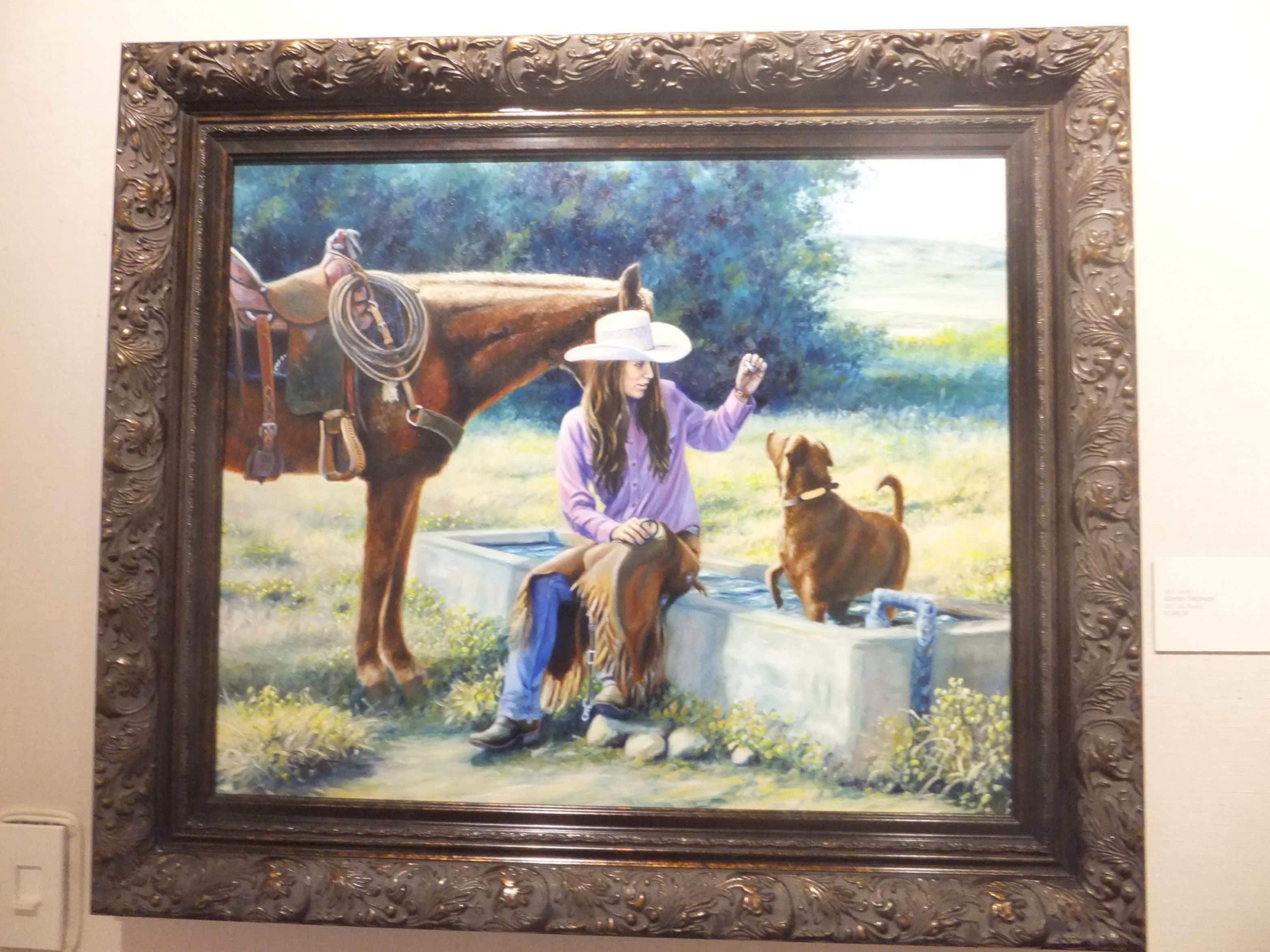 """good Friends"" - Oil Panel Jeff Gant 1680.00"