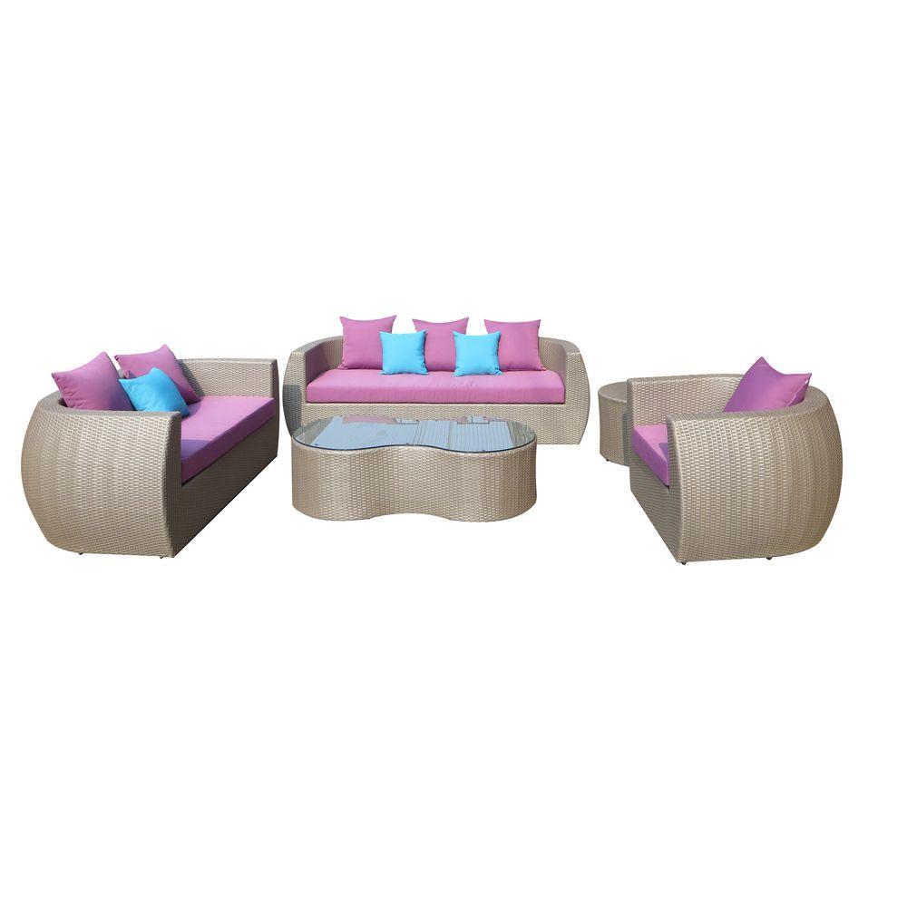 Glitz 5 Piece Outdoor Furniture Set Overstock Com Shopping The