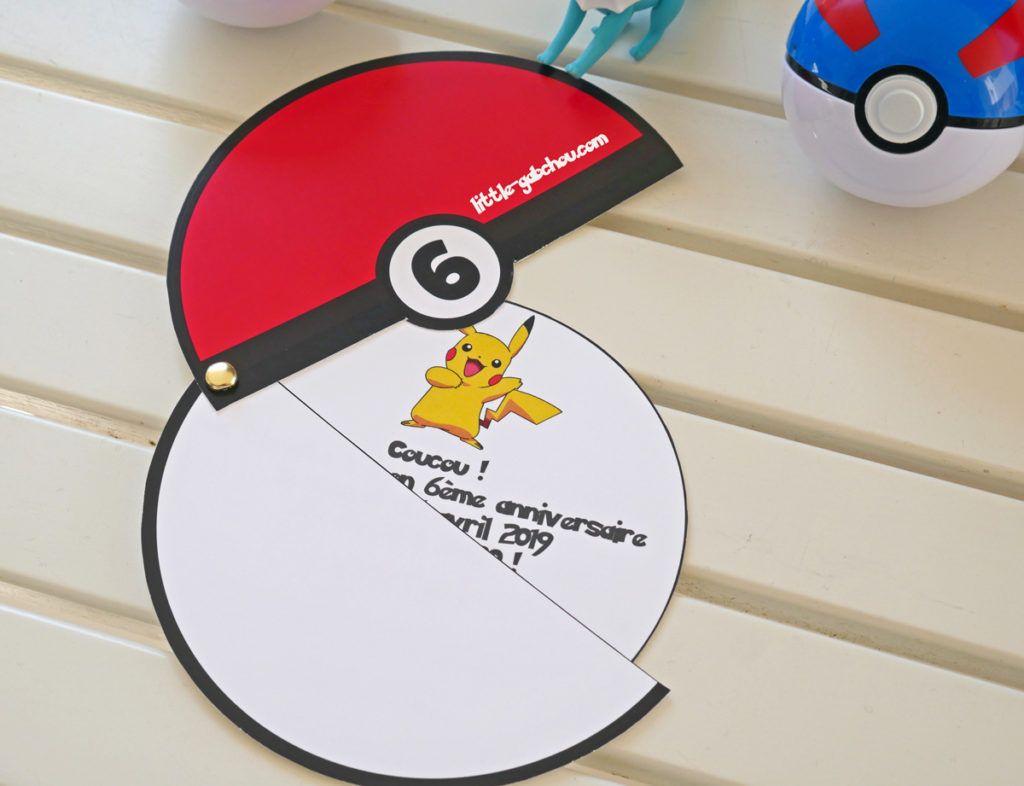 Diy Creer Une Invitation D Anniversaire Mobile Sur Le Theme Des Pokemon Anniversaire Pokemon Invitation Anniversaire Cartes Invitation Anniversaire Enfant