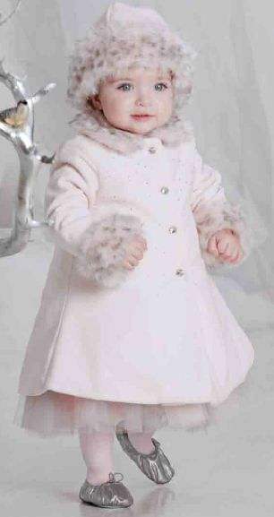 Biscotti Girls Twinkle Twinkle Pink Dress Coat With