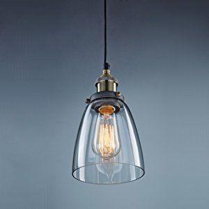 Claxy Deckenleuchte E27 Pendelleuchte F14cm Lampenschirm Aus Glas Vintage Design Industrie Look Hangelampe Glas Pendelleuchte Hangeleuchte