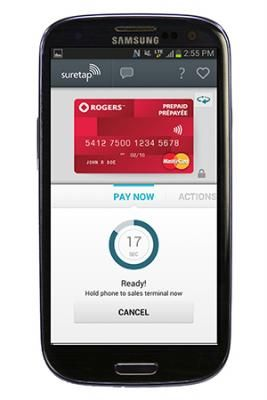 Rogers suretap wallet on Android