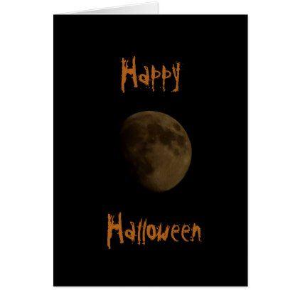 #Happy Halloween Moon Night Sky Card - #Halloween #happyhalloween #festival #party #holiday