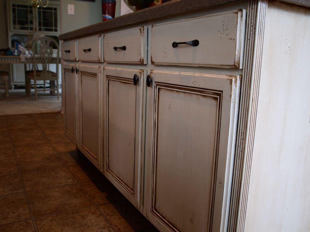 Best How To Do An Antique Stain On Cream Cabinets For The 640 x 480