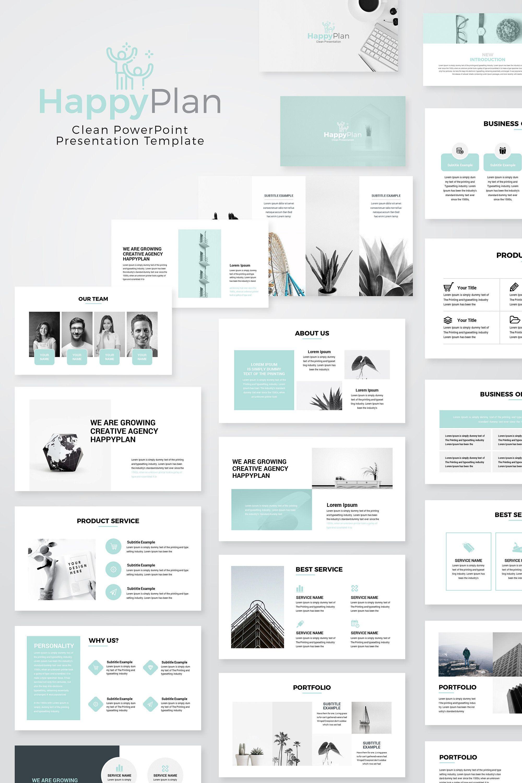 Happyplan Minimal PowerPoint Presentation Template