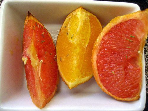 roasted grapefruit with rosemary
