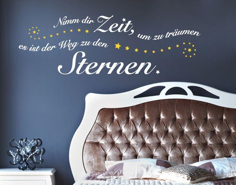 Wandtattoo Weg zu den Sternen #Sterne #Traum #Zeit #Schlafzimmer - wanddeko für schlafzimmer