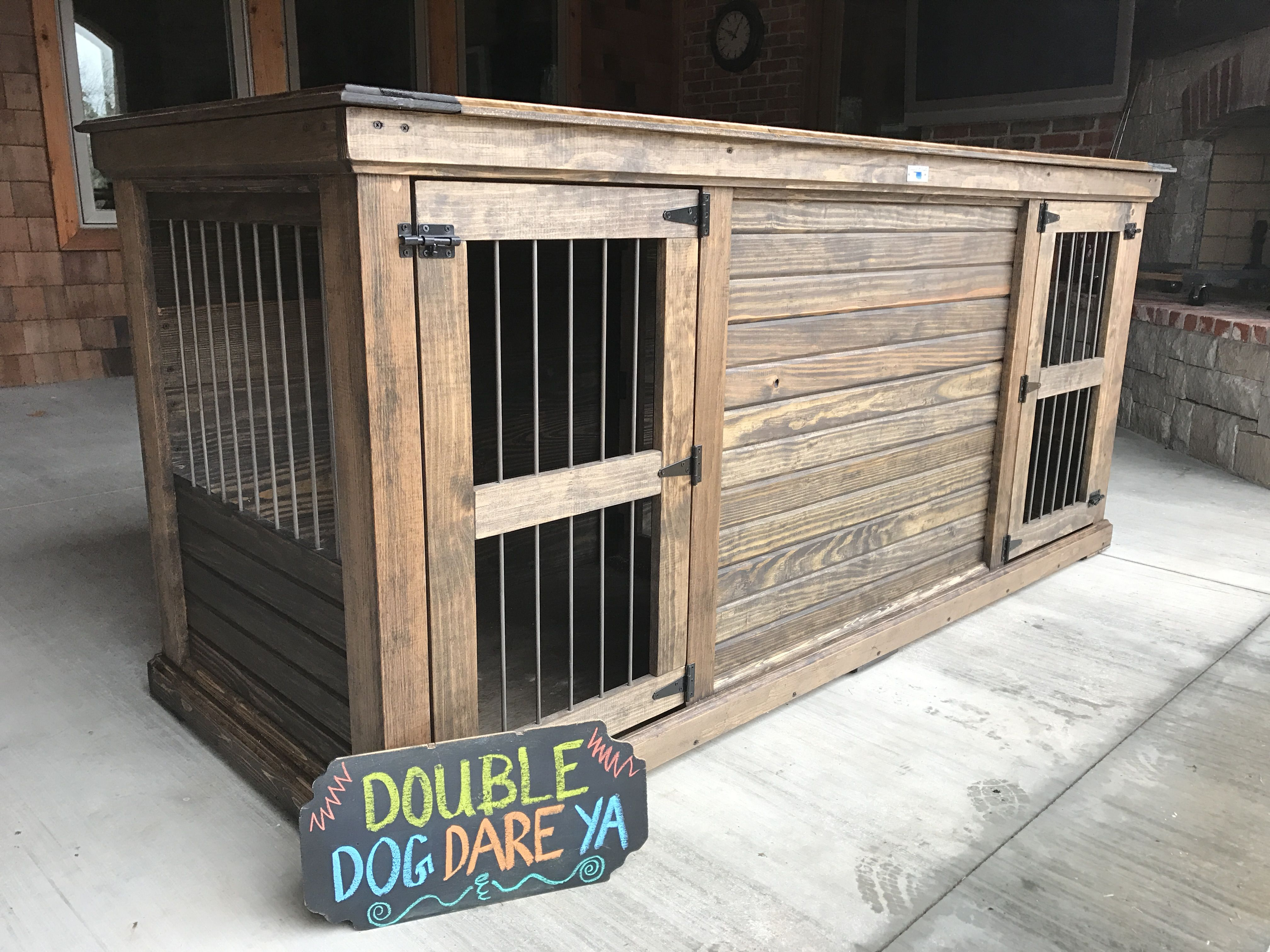 Furniture for the big dogs extra large double outer for Design indoor dog crate