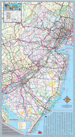 new jersey wall map executive commercial edition with on laminated wall maps id=62572