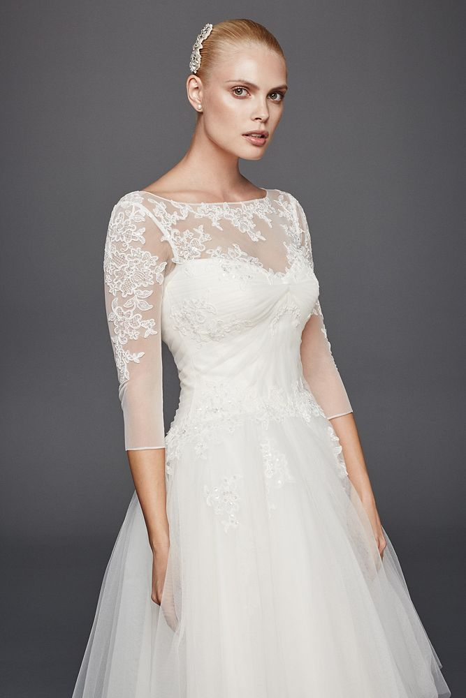 Truly Zac Posen 3 4 Sleeve Short Wedding Dress Style Zp341642