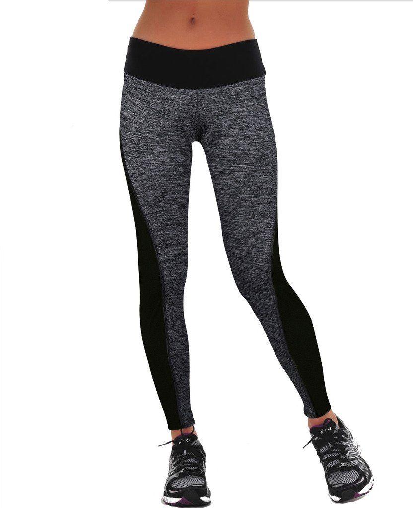 Amazon.com: Manstore Women's Tights Active Yoga Running Pants ...