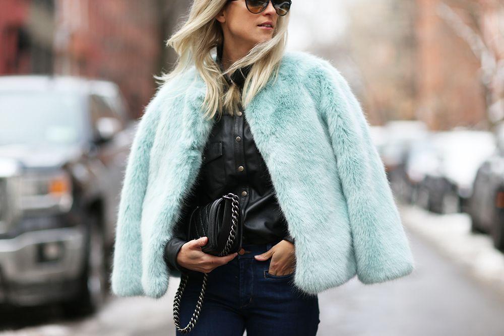 Ultra Flares Thefashionguitar Blue Faux Fur Coat Faux Fur Coat Fur Coat