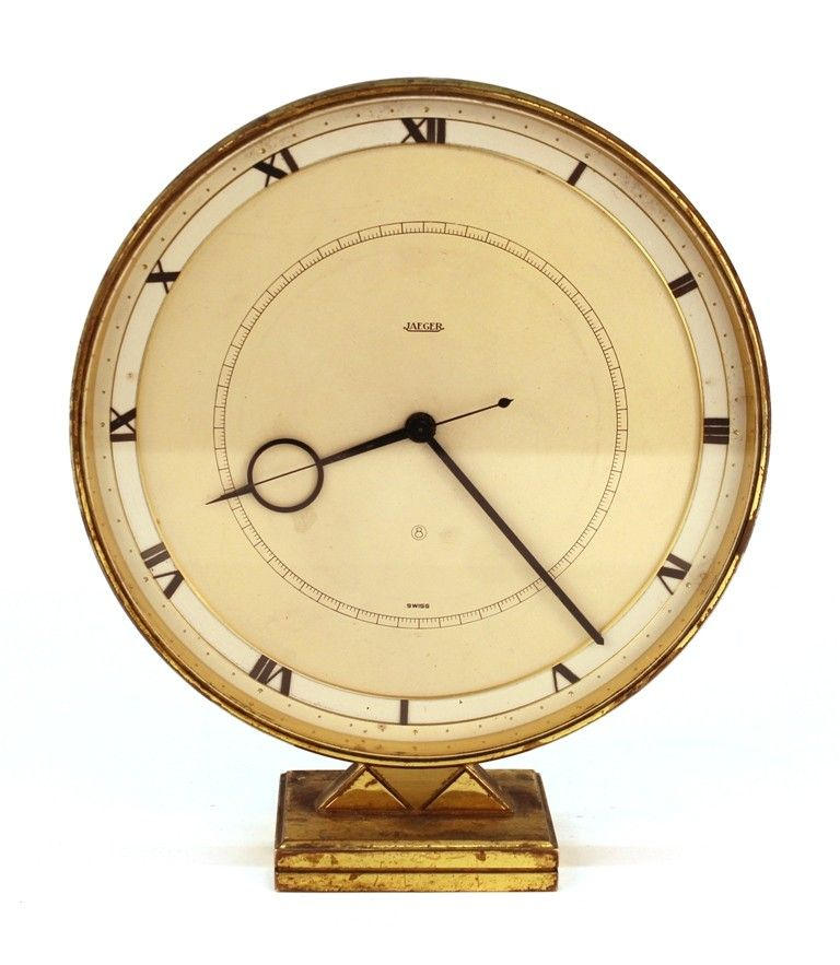 Art Deco Jaeger Lecoultre Desk Or Table Clock In Brass Front Art Deco Clock Clock Art Deco Desk