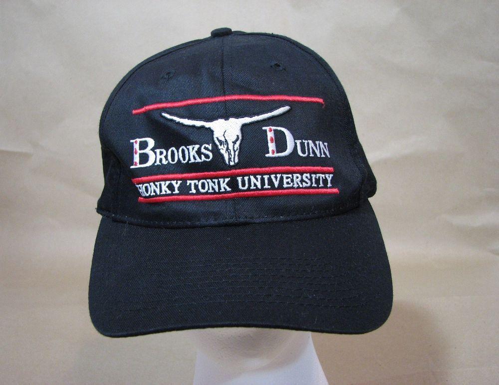 ebbac1c265149d Brooks Dunn Black Hat Honky Tonk University Ball Cap Snapback Adult Size