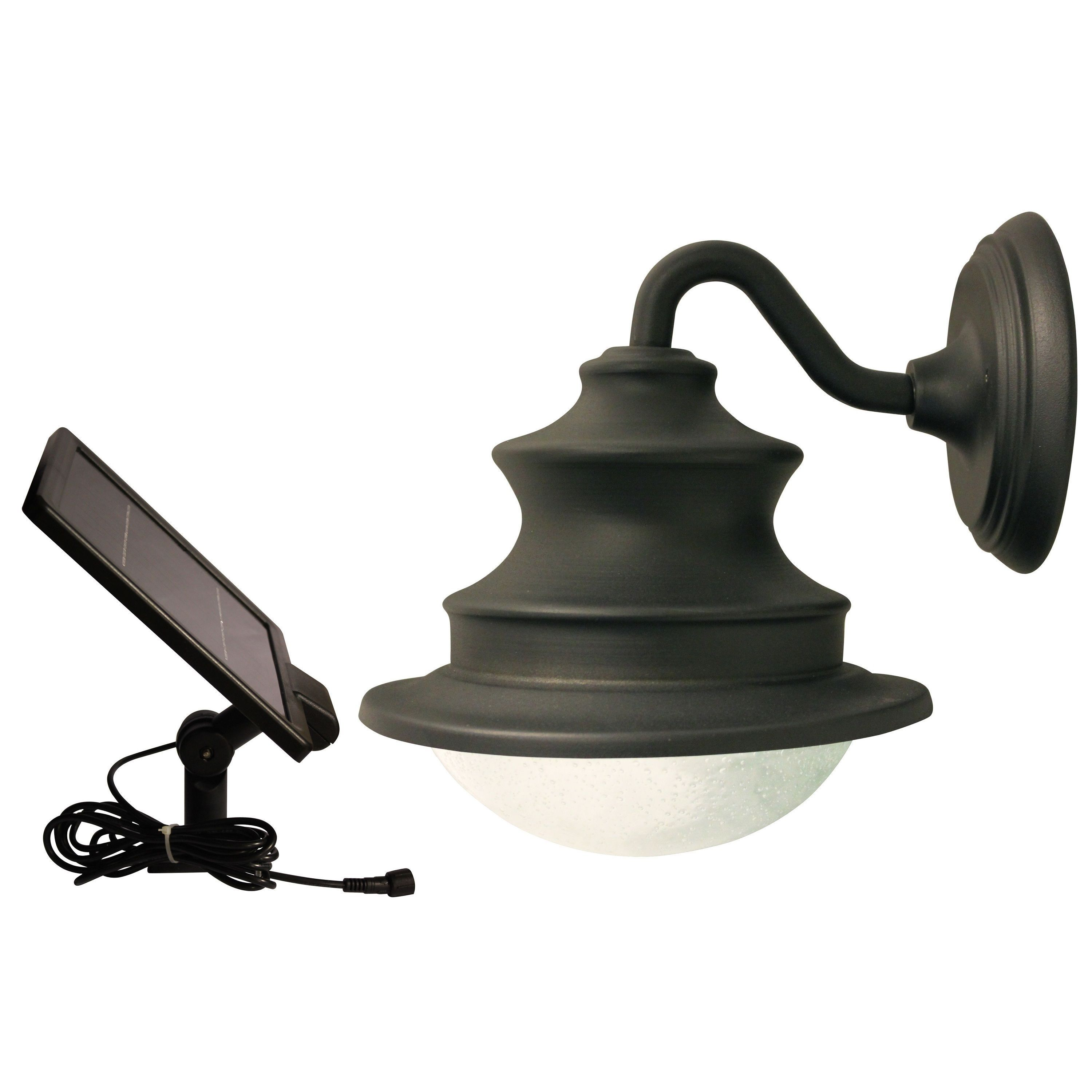 Outdoor Solar Light On A Gooseneck Sconce For Wall Mounting Has And 6 Bright White Leds That Output Eclairage Solaire Exterieur Lampes Solaires Panneau Solaire