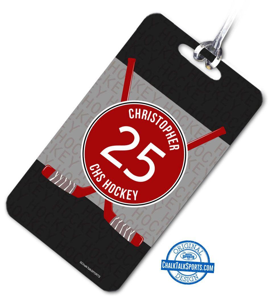 Hockey Bag Luggage Tag Chalktalksports Com Hockey Bag Hockey Bag Tags