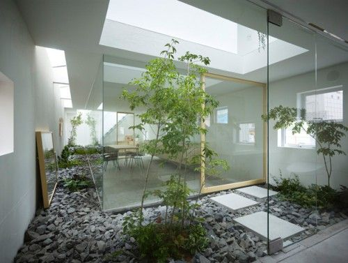 Innovative inner garden house interior design also marcel studio rh pinterest