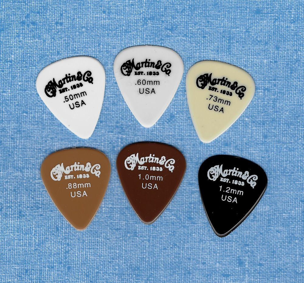 Martin & Co USA Set of 6 guitar picks all different gauges  #Martin #GuitarPicks