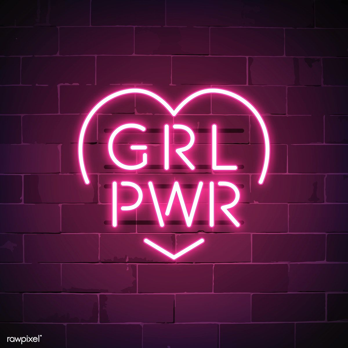 Girl Power Neon Sign Vector Free Image By Rawpixel Com Ningzk V Neon Signs Neon Signs Quotes Neon Wallpaper