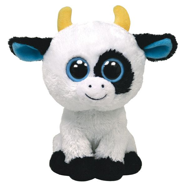 Peluches peluche ty daisy la vache beanie boo 39 s 15cm - Toutou a gros yeux ...