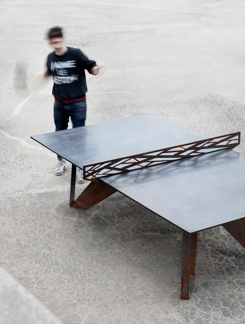 If You Love Ping Pong, You Are Going To Be Delighted To Learn That AtelierB  Designers Have Created A Table Made From Concrete.