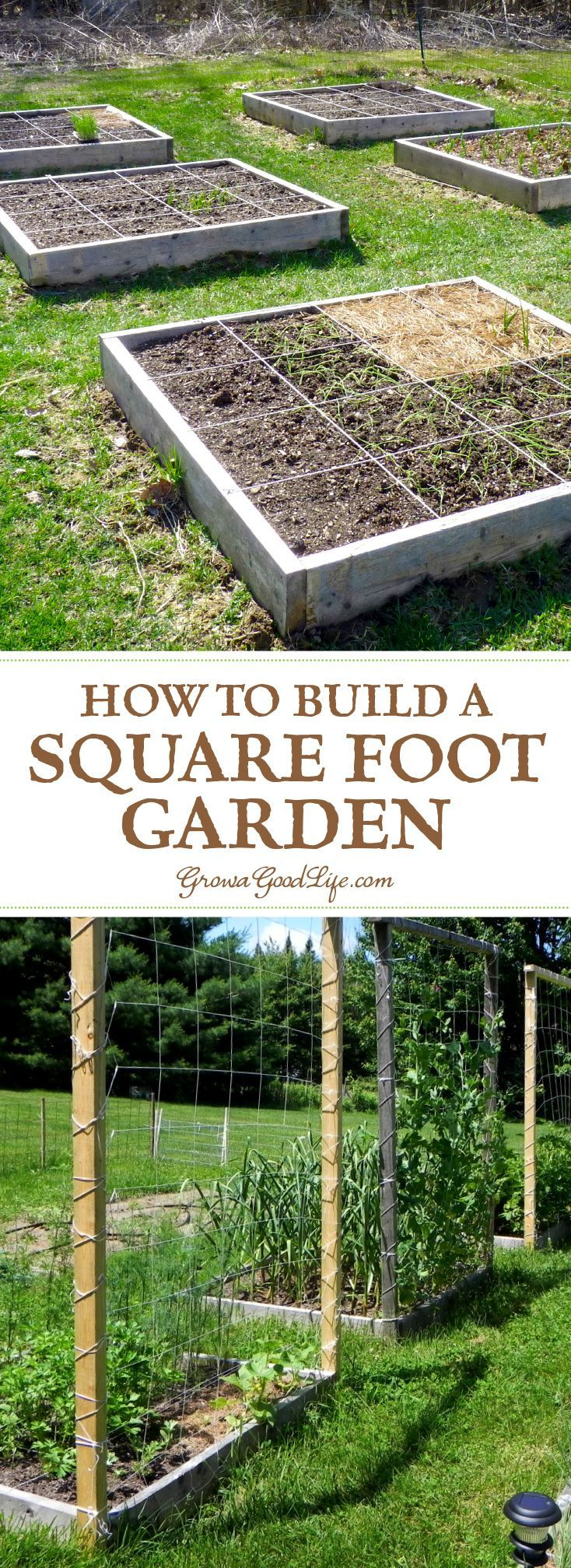How to Build a Square Foot Garden Square foot gardening Square