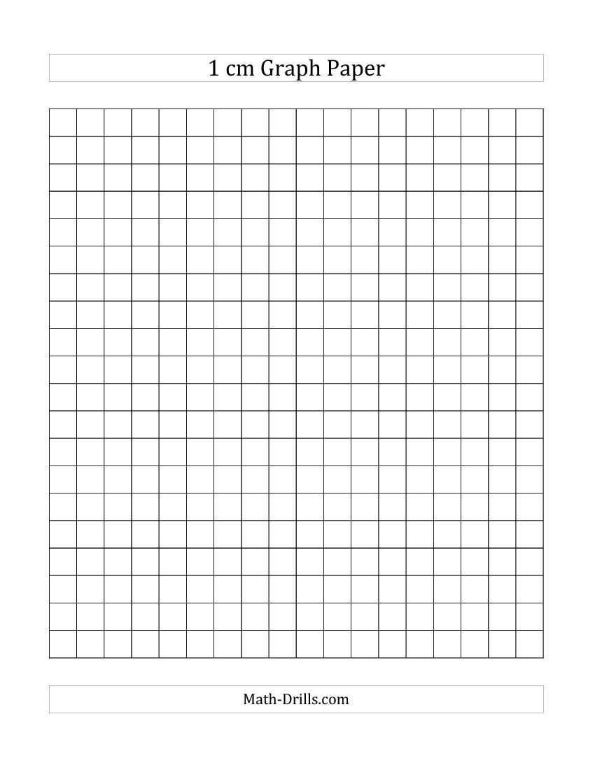 1 cm Graph Paper mathdrills Math Pinterest – Free Printable Grid Paper for Math