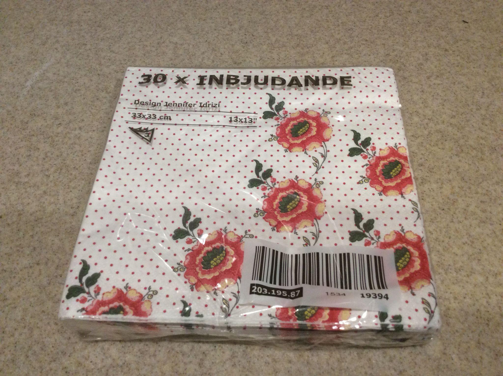 Flowered napkins Vow renewal flowers u decor Pinterest