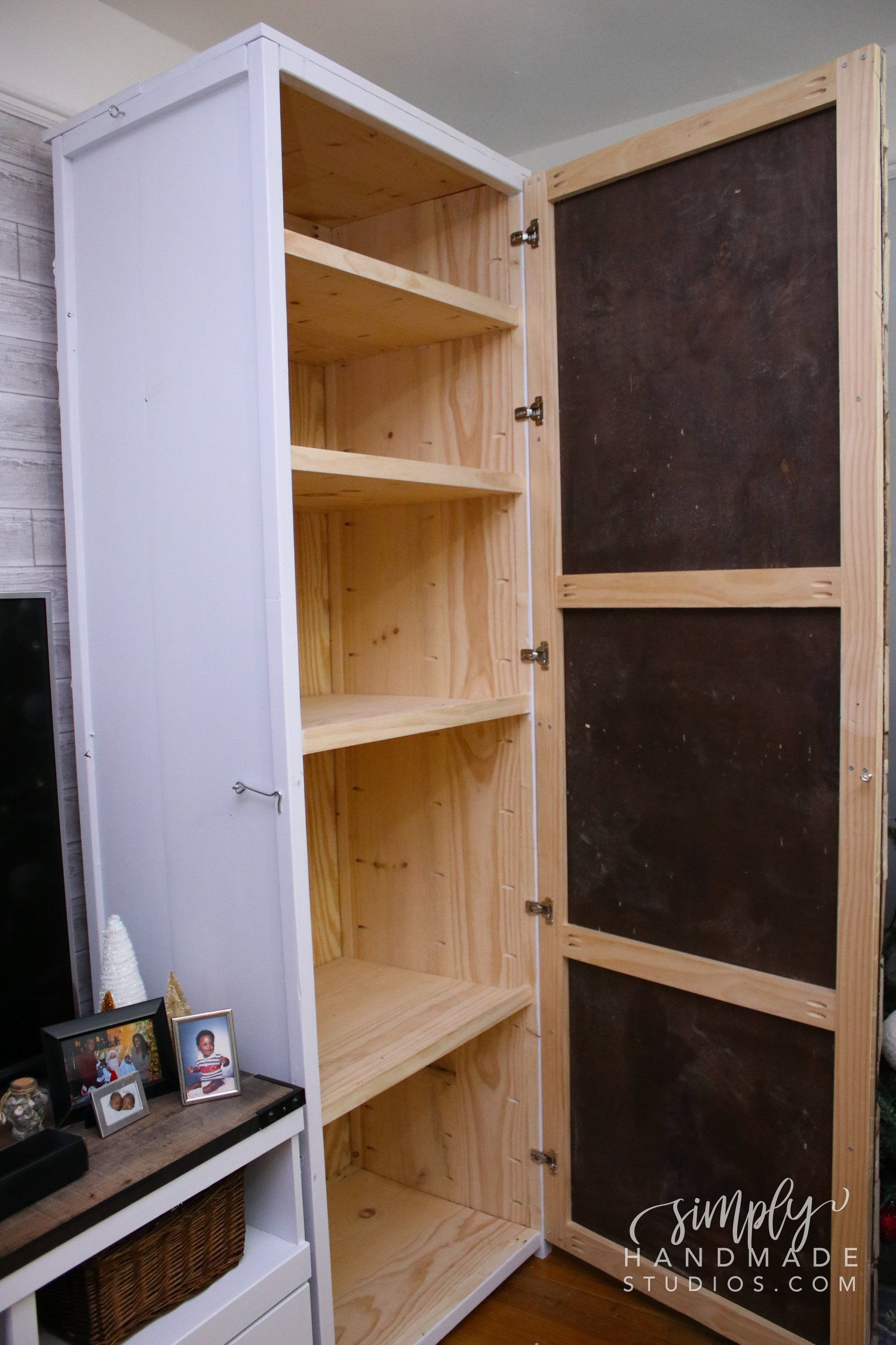 How To Build A Storage Cabinet In 9 Steps Simply Handmade Studios Diy Storage Cabinets Wood Storage Cabinets Craft Storage Cabinets