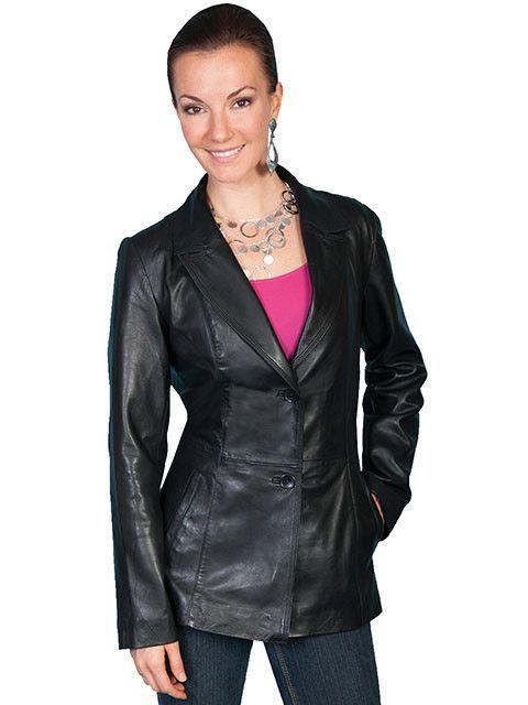 Viola Leather Blazer