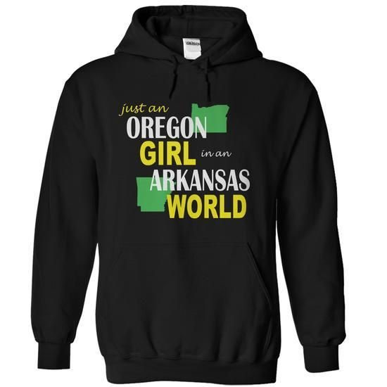 Oregon Girl in Arkansas T Shirts, Hoodies Sweatshirts. Check price ==► http://store.customtshirts.xyz/go.php?u=https://www.sunfrog.com/States/Oregon-Girl-in-Arkansas-Black-Hoodie.html?41382