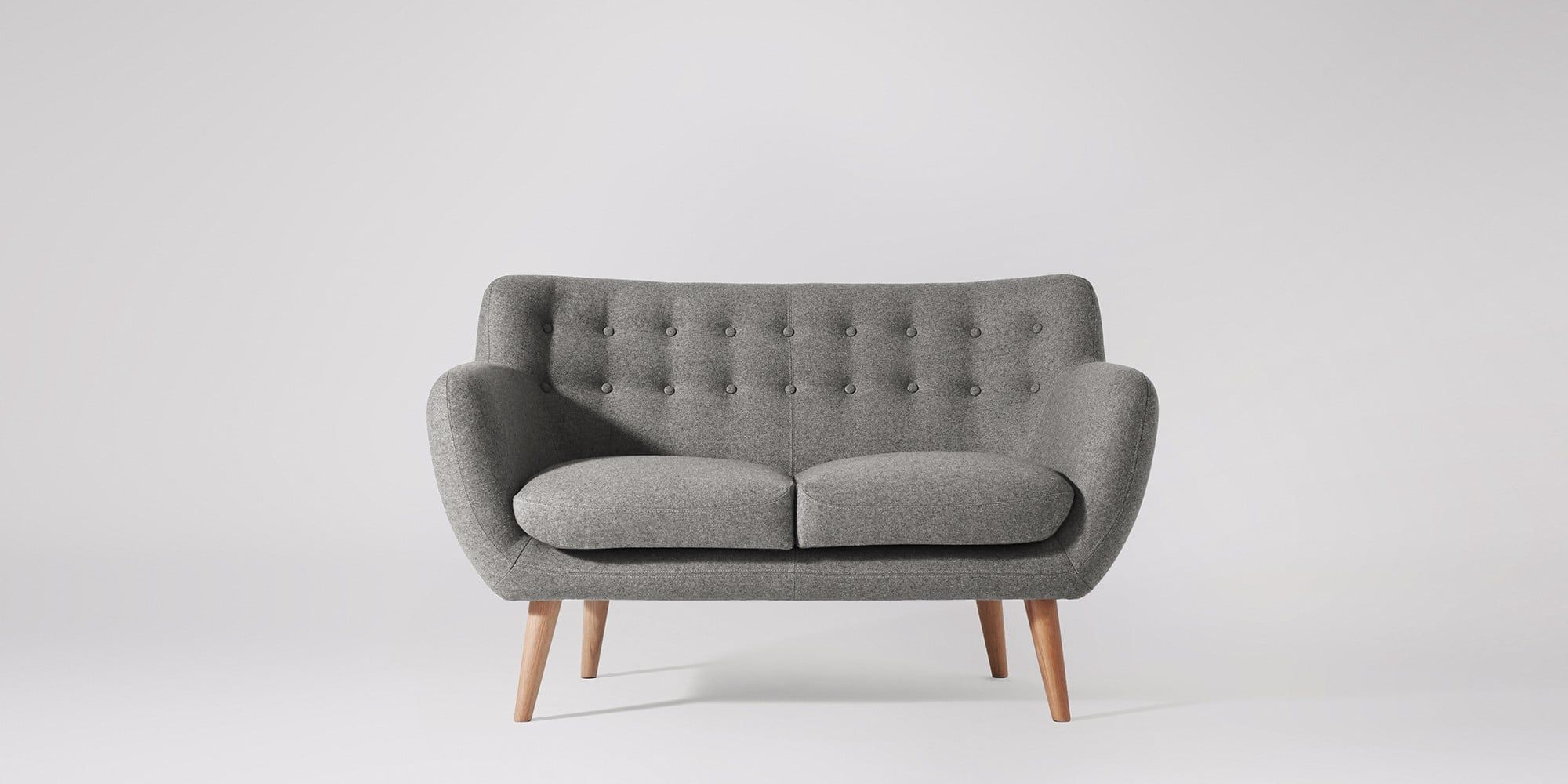 Mimi Two Seater Sofa Swoon Editions Living Room Furniture Sofas Copper And Grey Living Room Retro Sofa