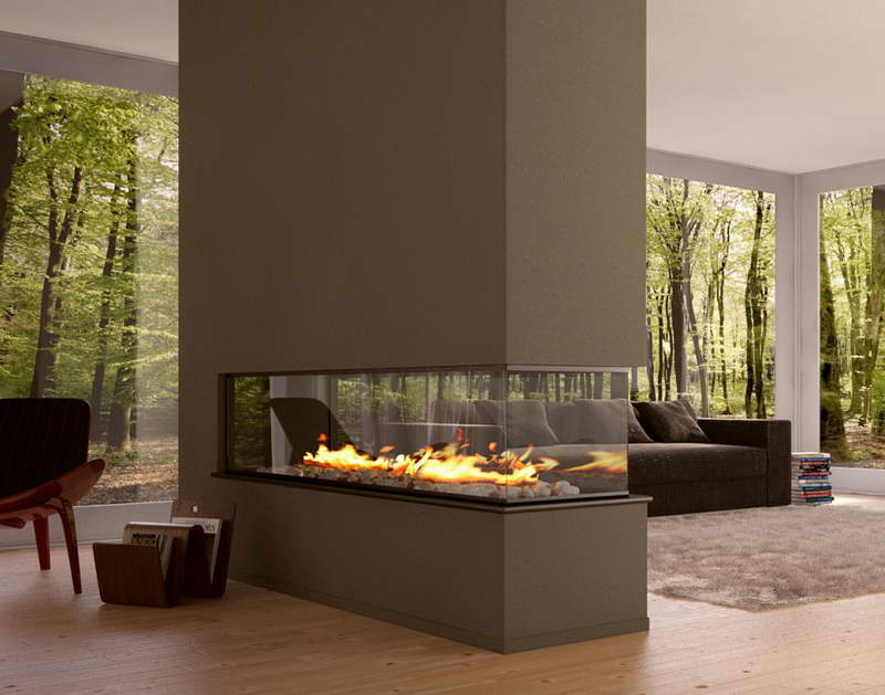 20 Glass Fireplace Ideas To Keep You Warm This Winter #modernfireplaceideas