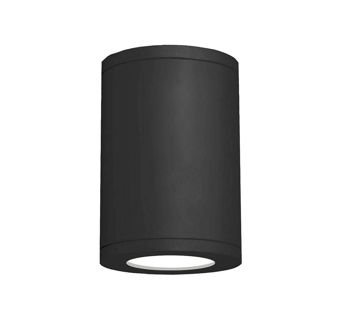 WAC Lighting Tube 7 inch Wet Rated LED Flush Mount 2700K Spot Beam 90CRI in Black #ledtechnology