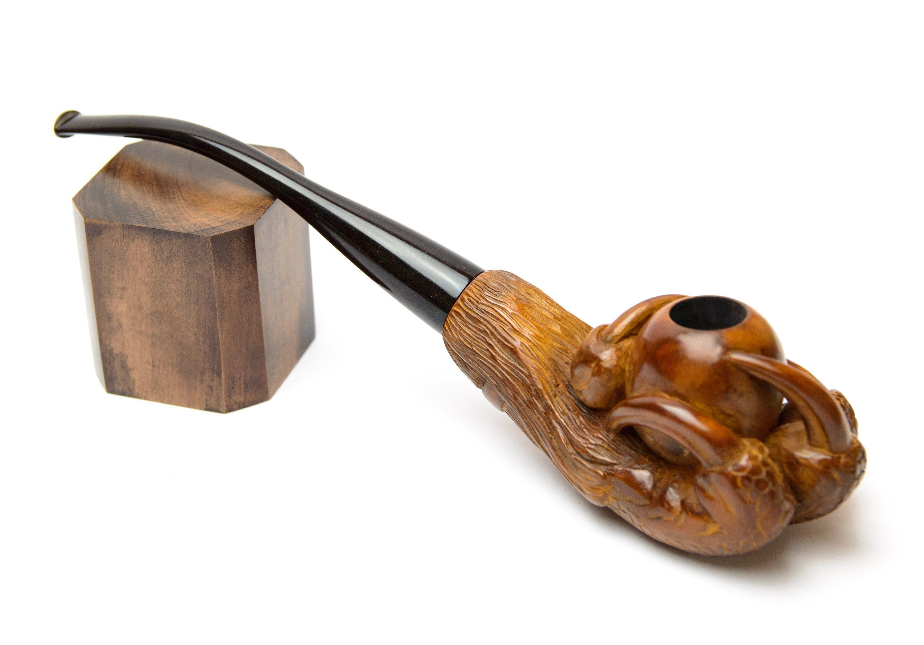 Dragon claw Smoking pipe - Wooden tobacco pipe - Hand carved