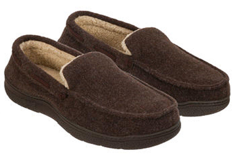 Amazon.com | Dearfoams Men's Memory Foam Slippers Moccasin Shoes | Slippers