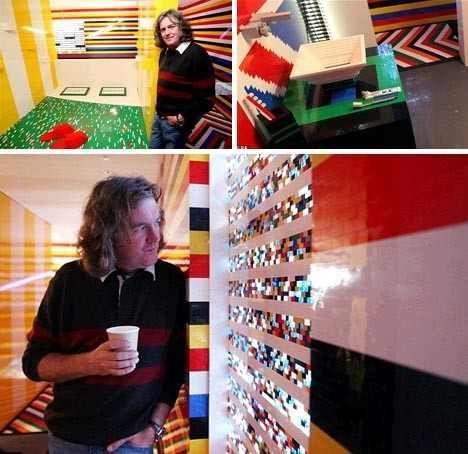 Inside house made of Lego's