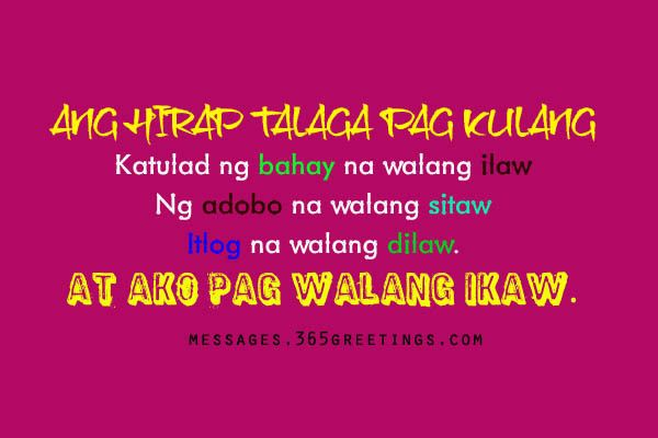 Tagalog Love Quotes for Him | Tagalog, Tagalog quotes and Feelings